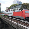 101 116 arrives into Hamburg Dammtor with a Wien-Aarhus EuroCity.