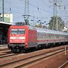 101 074 passes Berlin Schönefeld Flughafen with the empty stock for a Berlin Südkreuz-Köln Intercity service on the 11th September 2011.