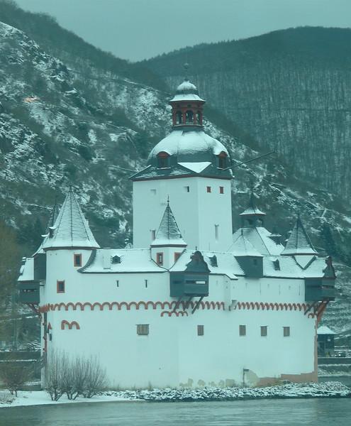 Pfalzgrafenstein Castle, also know as Kaub Castle in the Rhine Gorge