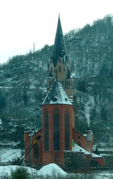 Church Liebfrauenkirche at Oberwesel on the Rhine