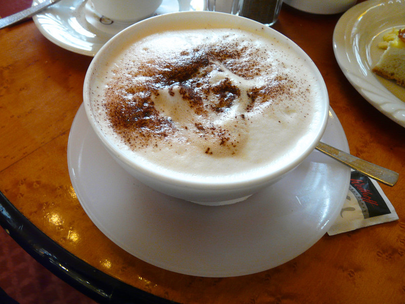 Latte at Cafe Prag in Schwerin, Germany