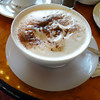 Latte at Cafe Prag in Schwerin, Germany