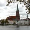 Cathedral across the lake in Schwerin, Germany