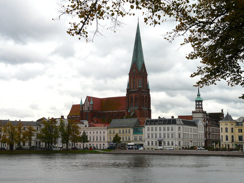cathedral on the banks of a river