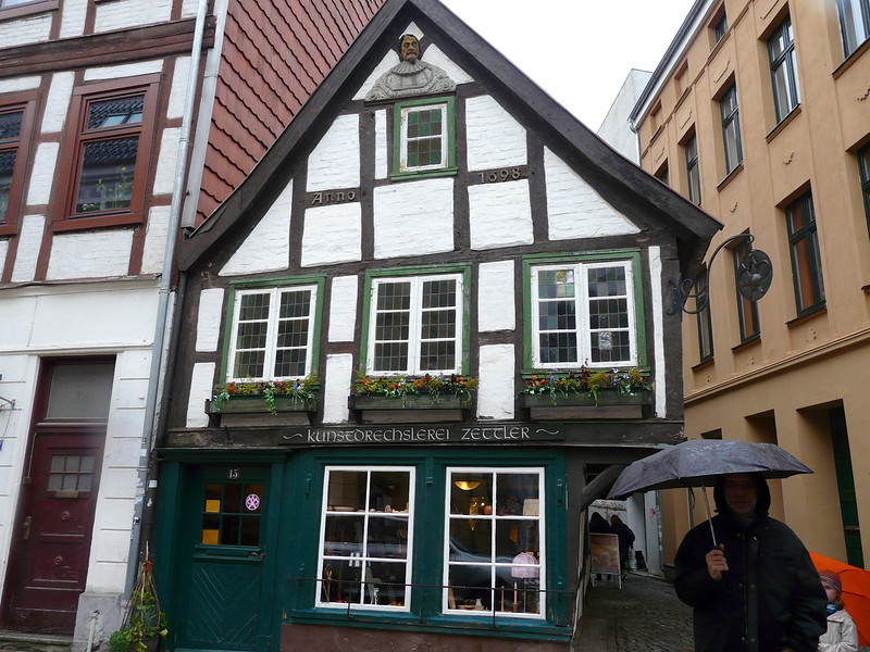 Cross-timbered house in Schwerin, Germany