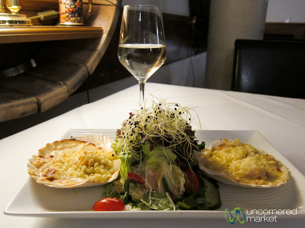 Small Plate Eating at Perabo Winery Restaurant - Lorch, Germany