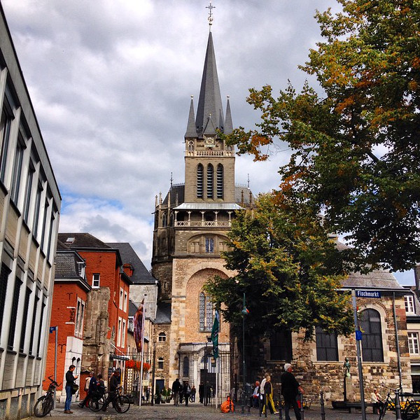 Aachen in autumn. A shot of the cathedral down the lane from the Domhof. #Germany via Instagram http://ift.tt/YIijO7