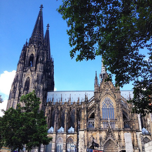 The ever-resilient Cologne Cathedral. So much of the city was demolished in WWII, but the cathedral survived. Maintaining it is a constant struggle, apparently. There's been some bit of scaffolding on it every day over the last several decades, except for 3 days in 1970. Photographers from all over the world flocked to take photos for all those postcards. via Instagram http://ift.tt/1y7WEP4