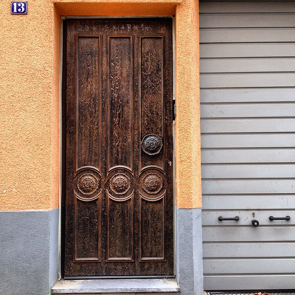 Favorite doorway candidate #34. Etch and iron. Taken in the back streets of Rüdesheim am Rhein, Germany. via Instagram http://ift.tt/1q1Dccy