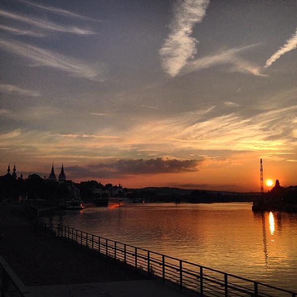 Koblenz - Sunset at Deutsches Eck
