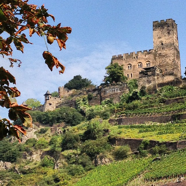 Gutenfels Castle, Kaub. The clouds part and there be castles. Ferry hopping on the Upper Middle Rhine. #Germany via Instagram http://ift.tt/WnPa9e