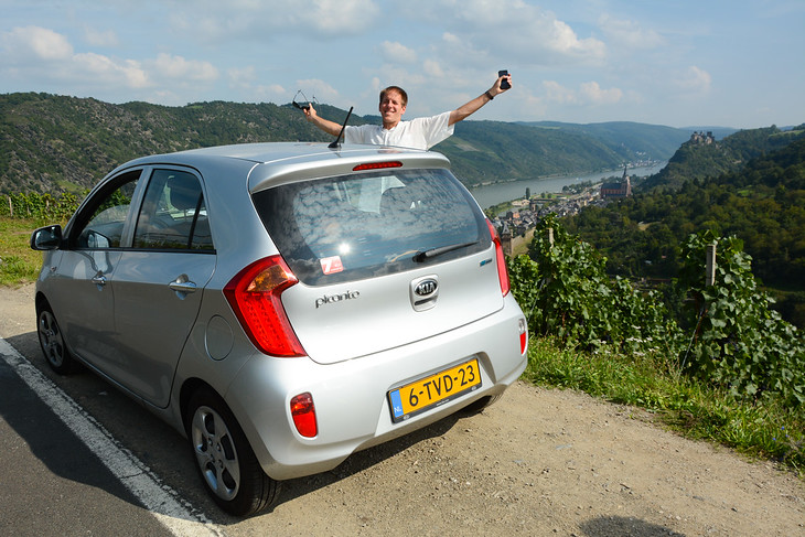 Rhine Valley Road Trip, Up Above Oberwesel - Germany