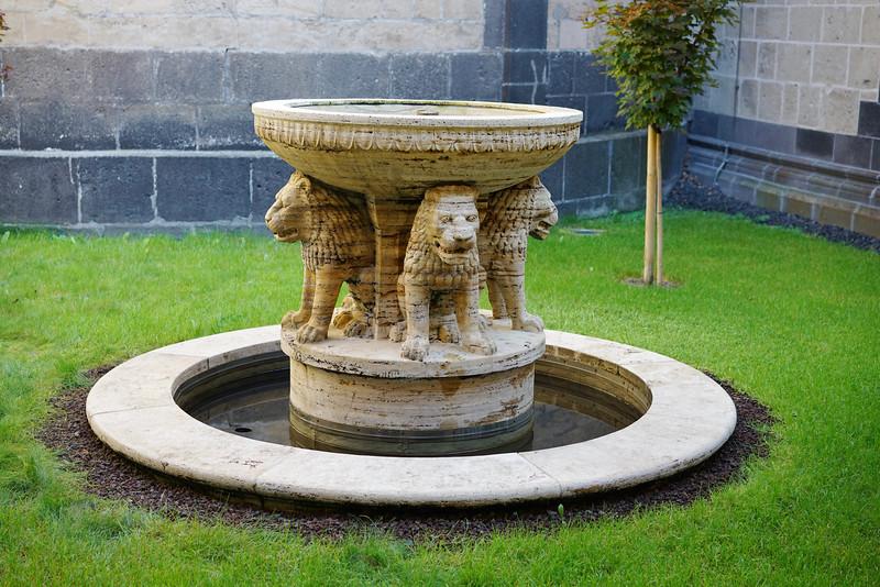 Lion fountain in atrium