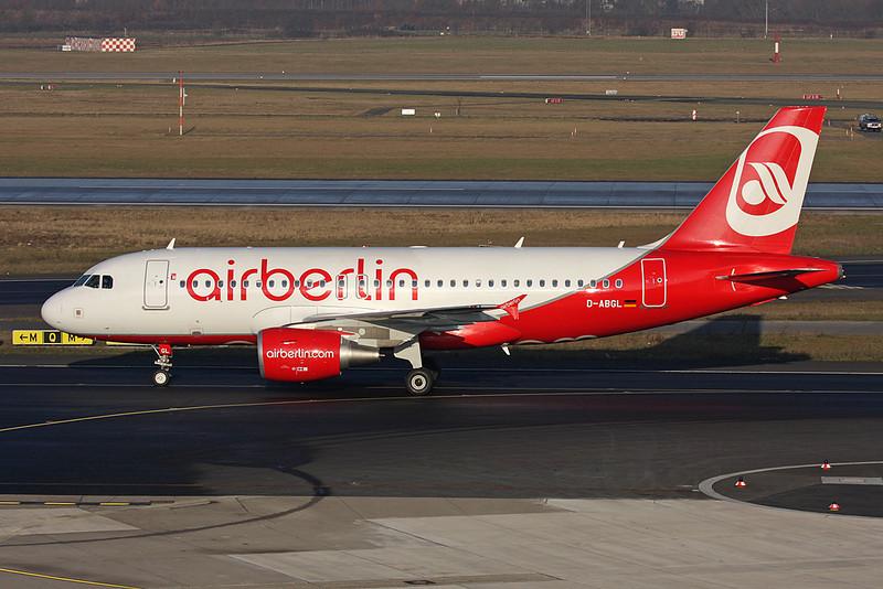 D-ABGL Airbus A319-112 c/n 3586 Dusseldorf/EDDL/DUS 30-01-09