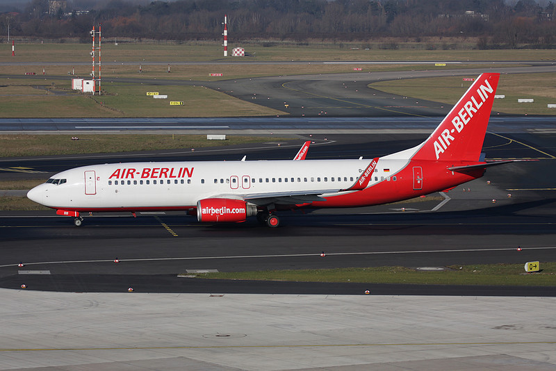D-ABBB Boeing 737-86J c/n 32624 Dusseldorf/EDDL/DUS 30-01-09