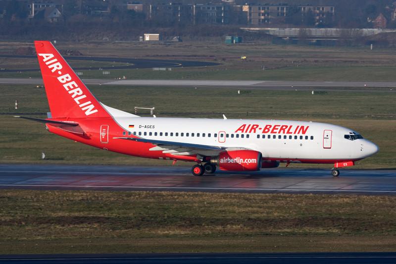 D-AGES Boeing 737-75B c/n 28108 Dusseldorf/EDDL/DUS 19-12-07