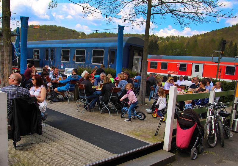 Amorbach Germany, Erlebnisbahnhof Gleis 1,
