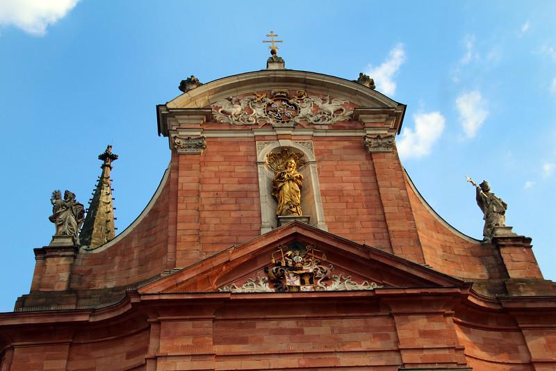 Aschaffenburg Germany, Zur unserer lieben Frau Baroque Church