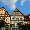 Aschaffenburg Germany, Gabled Houses in Old Town