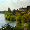 Aschaffenburg Germany, View Along Main River