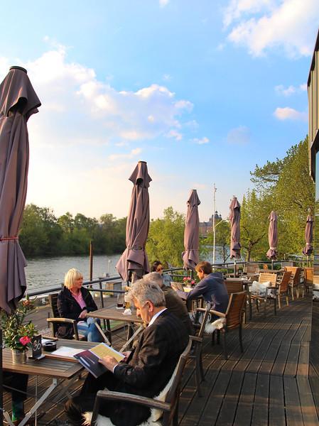 Aschaffenburg Germany, Outdoor Terrace, Pier 18 Restaurant