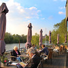 Aschaffenburg Germany, Outdoor Terrace, Pier 18 Restaurant