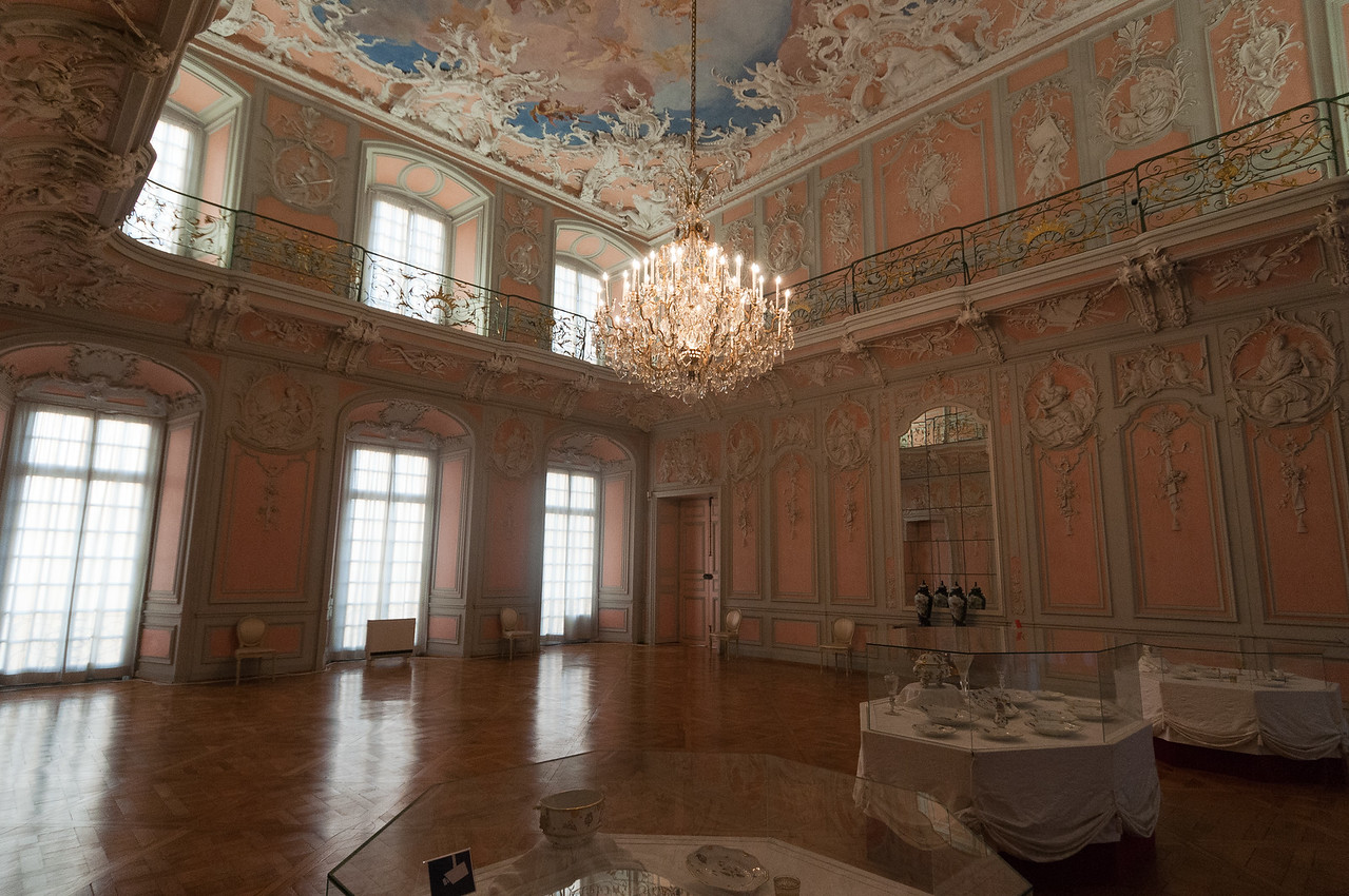 Wide open room in Augustusburg Palace in Germany