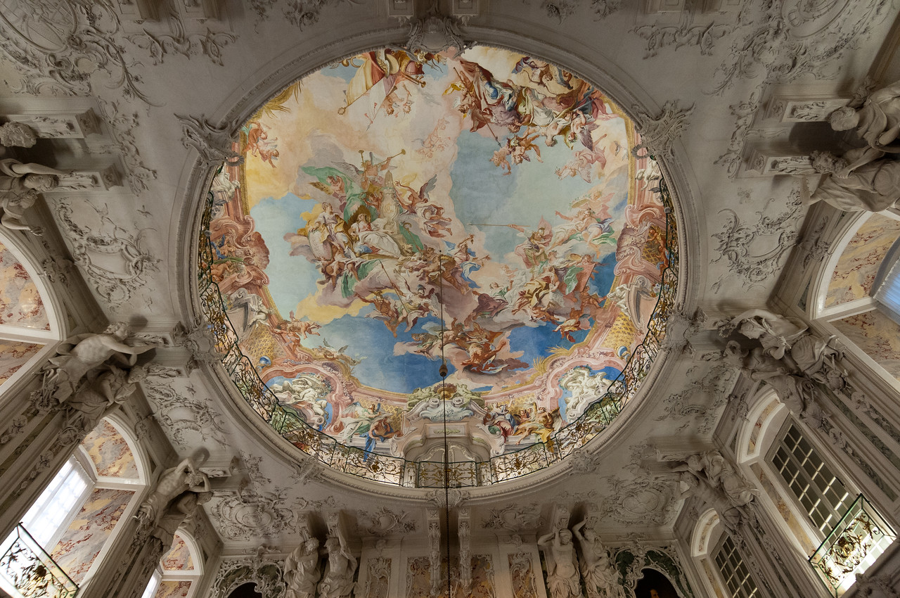 Painting at the ceiling of Augustusburg Palace, Bruhl, Germany