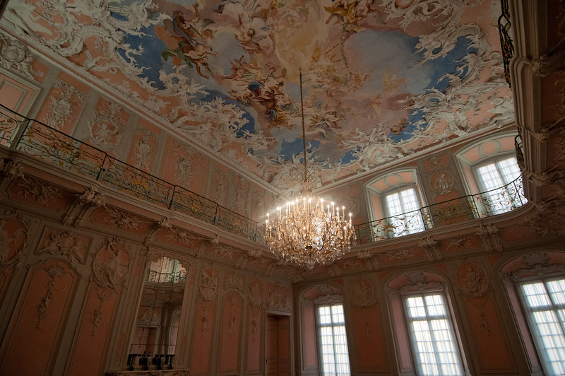 German Rococo Style Interiors in Augustusburg Palace in Germany