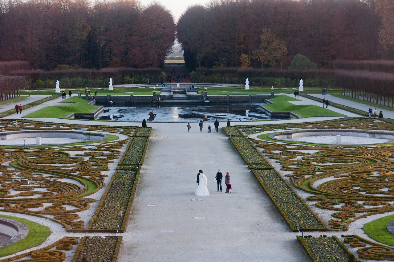 The park outside Augustusburg Palace in Germany