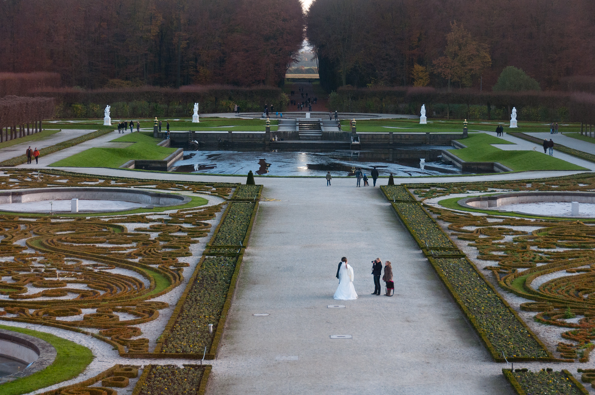 Wedding Photo Shoot on Grounds of Augustusburg Palace, Germany