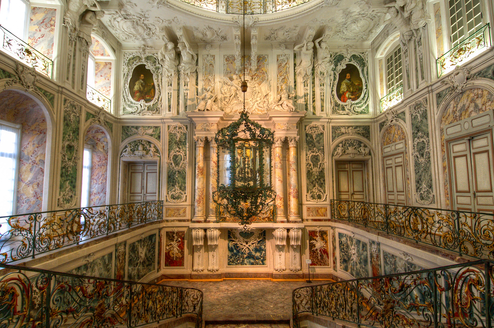 Grand Staircase Inside the Augustusburg Palace, Germany