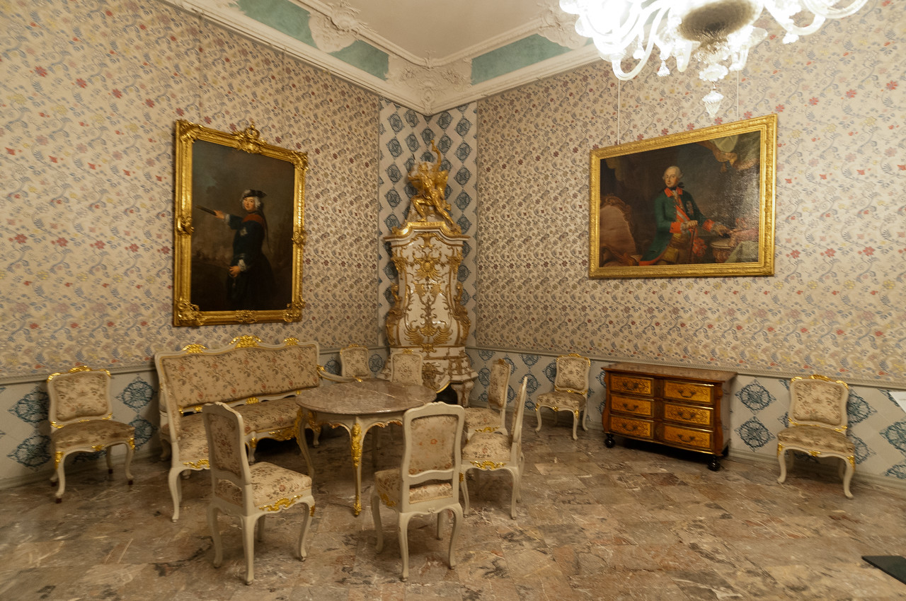 Beautiful room inside Augustusburg Palace in Bruhl, Germany