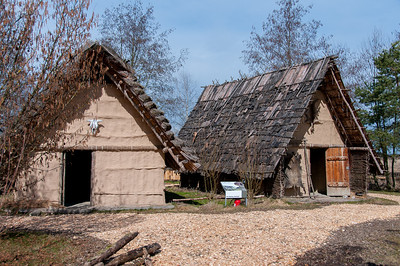 Traditional houses at Bad Buchau in Germany