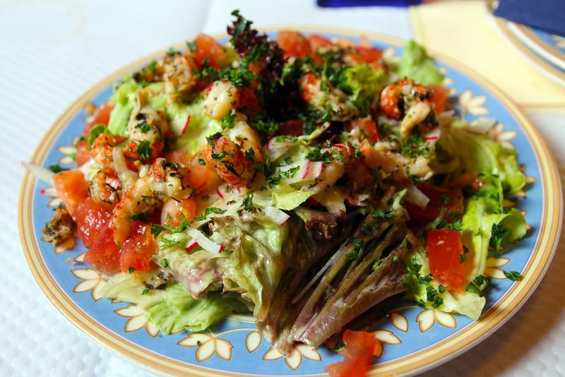 Bad Homburg Germany, Flamms Restaurant, Shrimp Salad