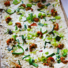 Bad Homburg Germany, Flamms Restaurant, Flammkuchen with Shrimp and Onions