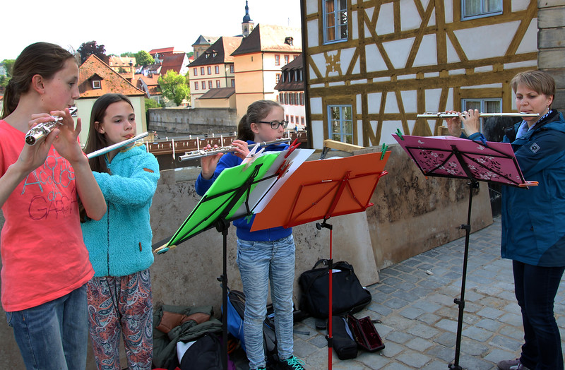 Bamberg Germany, Girls' Classical Street Concert