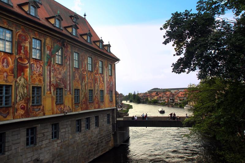 Bamberg Germany, Scene on Bridge