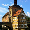 Bamberg Germany, Altes Rathaus and Two Bridges