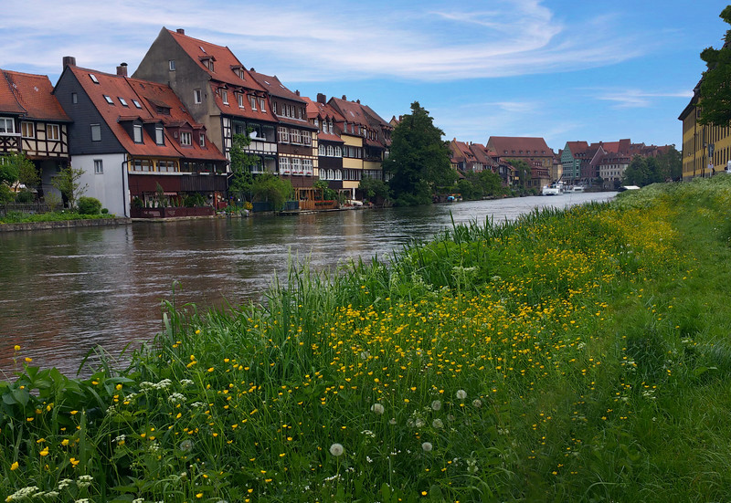 "Bamberg Germany, Houses from the Middle Ages ""Little Venice"" Along the Regnitz River"