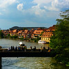 Bamberg Germany, View on River from Altes Rathaus