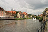 Town view and Regnitz River.