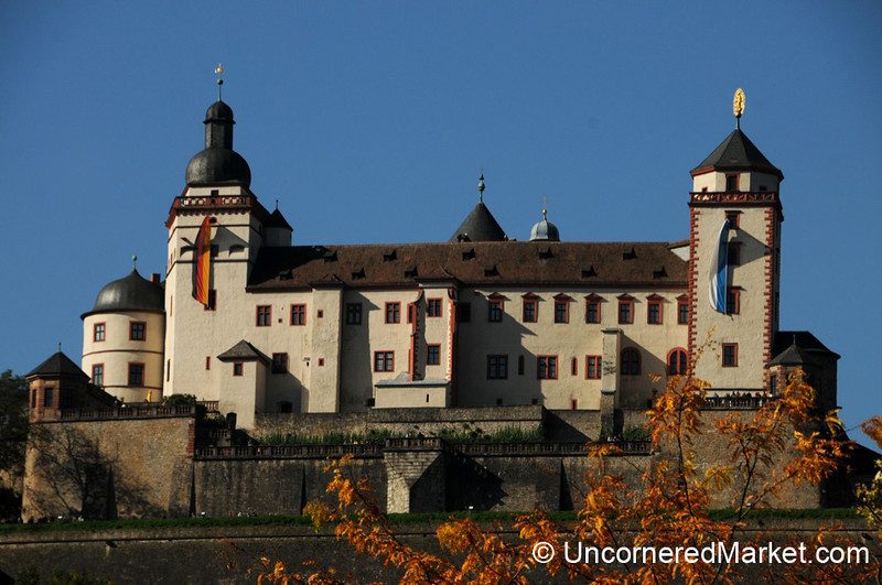 Fortress Marienberg Overlooking Wurzburg - Germany