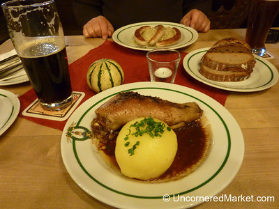 Roasted Goose Breast and Potato Dumpling - Bamberg, Germany