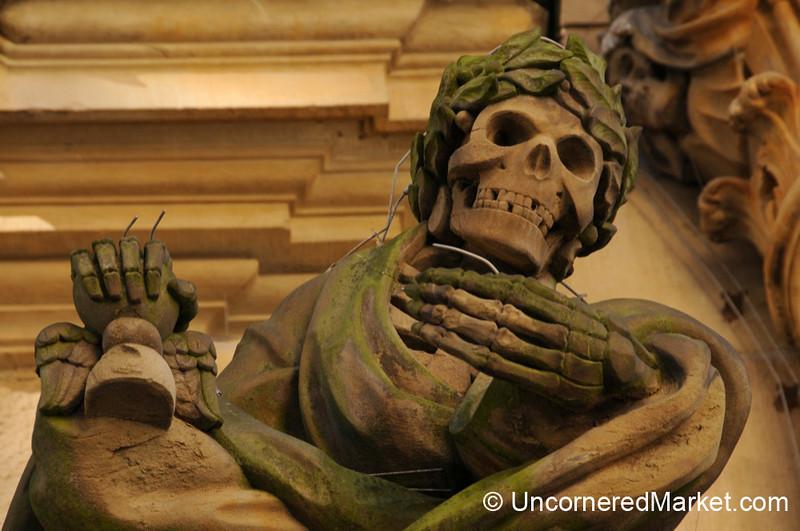 Skeletons As Decor - Wurzburg, Germany