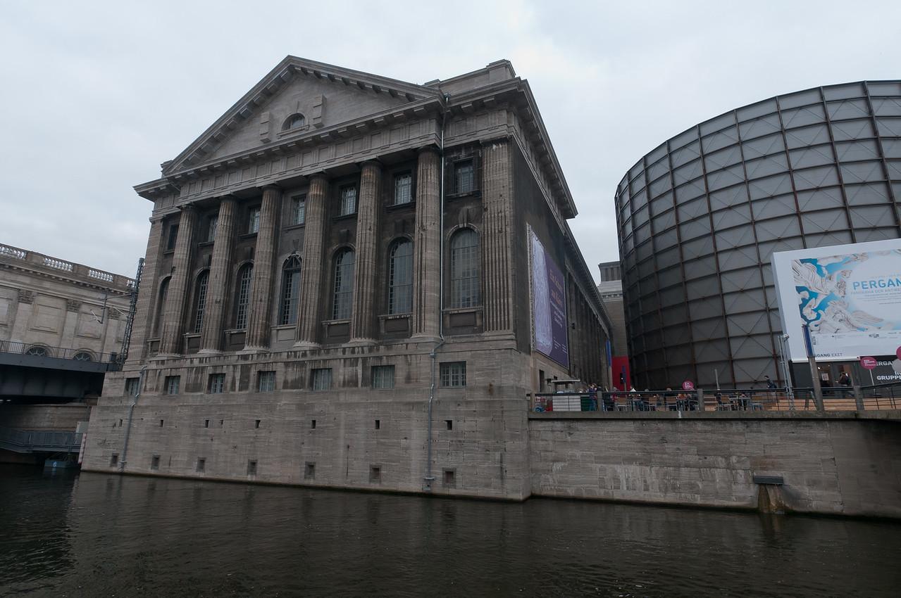 Building along Spree River in Berlin, Germany
