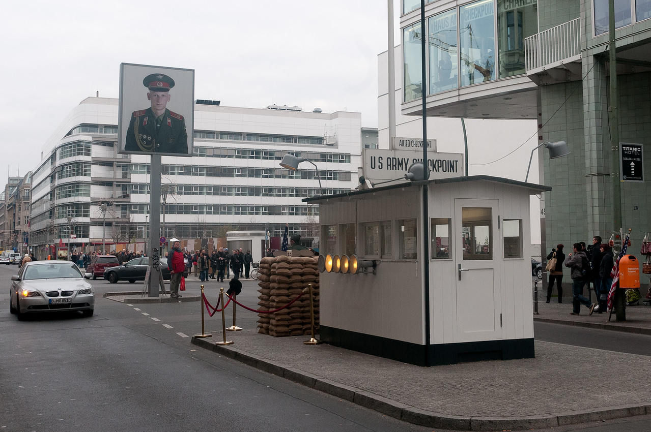 US Army checkpoint in Berlin, Germany