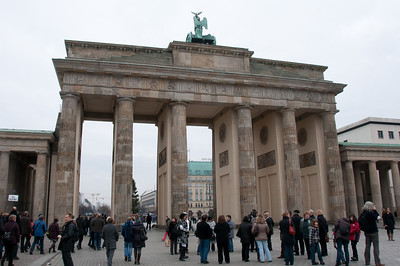 Tourists at the Brandenburg Gate in Berlin, Germany