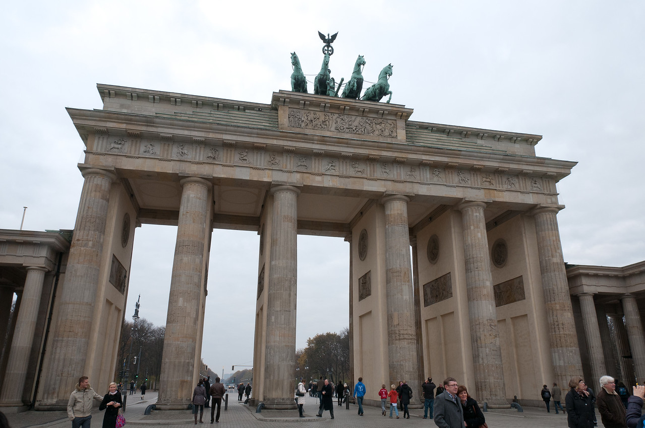Brandenburg Gate at day in Berlin, Germany