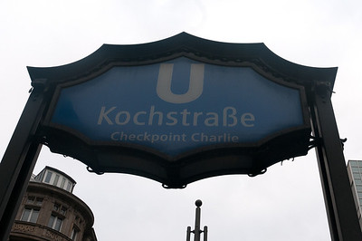 Checkpoint Charlie - Kochstraße U-Bahn station in Berlin, Germany